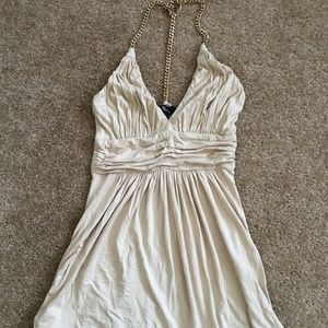 Sky Brand Beige Gold Crystal Chain Top Size XS